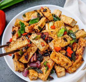 Vegan Black Bean Tofu