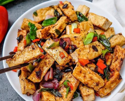 Vegan Black Bean Tofu