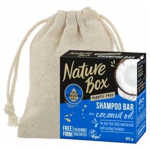 Nature Box | Shampoo Bar| Coconut |Droog Haar + Linnen Zeepzakje