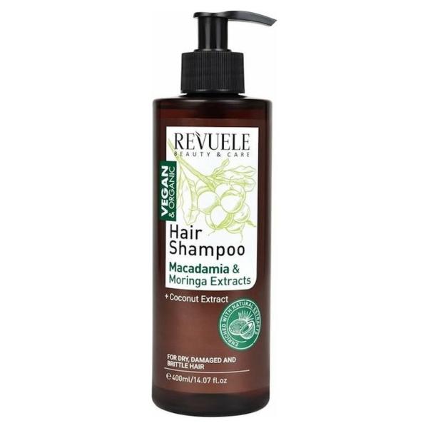 Revuele Vegan & Organic Hair Shampoo Macadamia & Moringa oil 400ml.