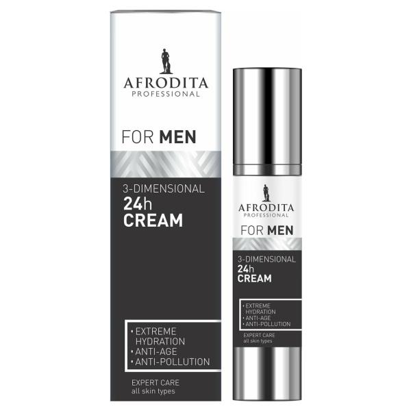 AFRODITA MEN Professional 3-DIMENSIONELE 24h CRÈME - Gezichtscrème - 45 ml - Vegan