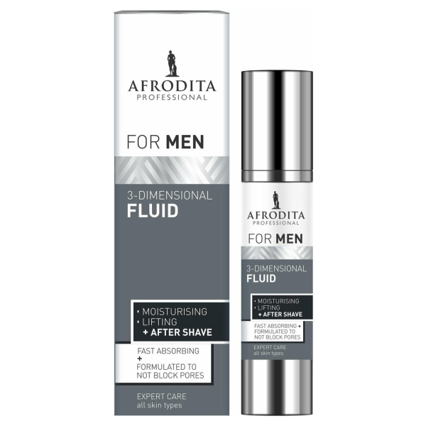 AFRODITA MEN Professional 3-DIMENSIONELE FLUID - Gezichtscrème - After Shave - 45 ml - Vegan