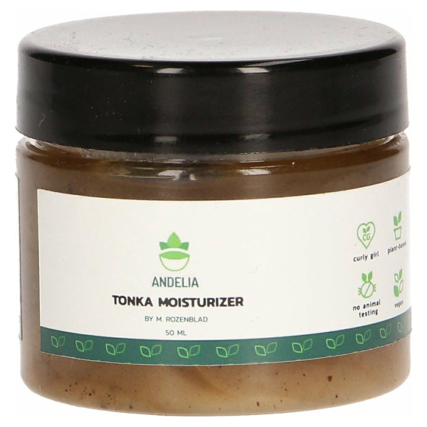 Andelia Tonka Moisturizer | 100% Organic & Vegan| bevordert Haargroei & voorkomt Schilfers | M / V - 50ml