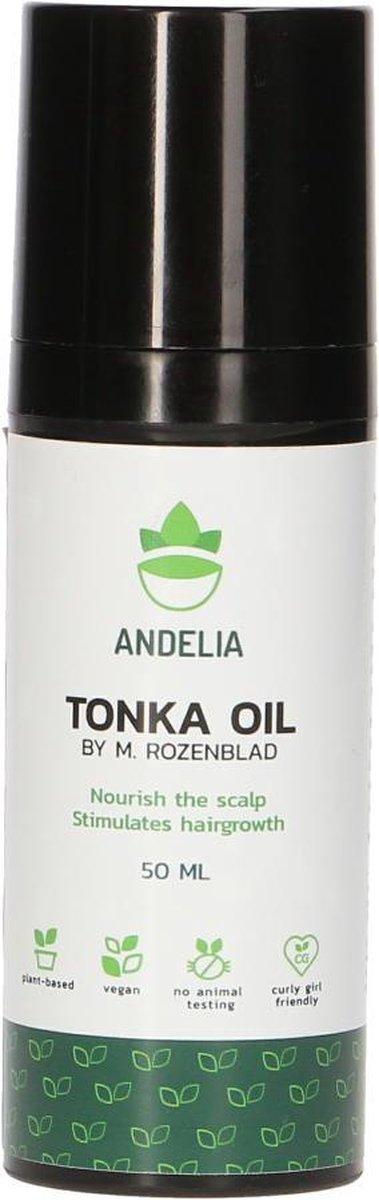 Andelia Tonka Olie | 100% Vegan | bevordert Haargroei & voorkomt Schilfers | M / V - 50ml