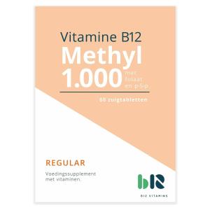 B12 Vitamins - Methyl 1.000 - 60 tabletten - Vitamine B12 methylcobalamine - Methyl - vegan - voedingssupplement