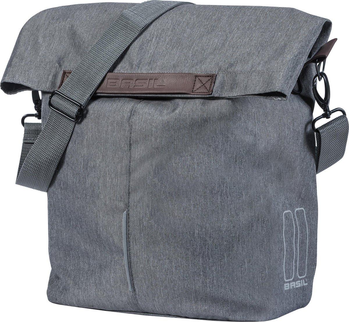 Basil City Shopper Fietstas - 16 liter - Grey melee