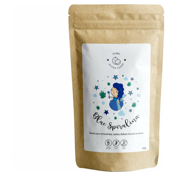 Blauwe Spirulina poeder | Blue Spirulina powder | Fairy Superfoods | 50g