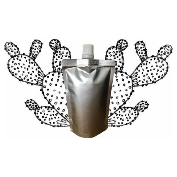 Cactusvijgolie in navulling 100 ml pouch met schenkmond (hersluitbaar) - vegan - dierproefvrij en zonder chemische toevoegingen - cactusvijg huidolie