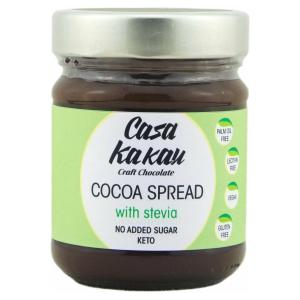 Casa Kakau vegan chocoladepasta gezoet met erythritol en stevia