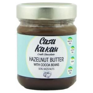 Casa Kakau vegan hazelnootpasta cacao, vrij van gluten palmolie soja