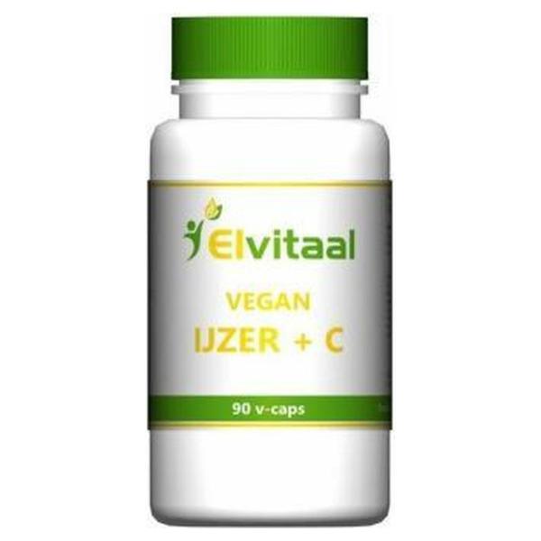 Elvitaal Vegan ijzer + vitamine c
