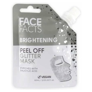 Face Facts Glitter Peel off Mask - Brightening (Silver)