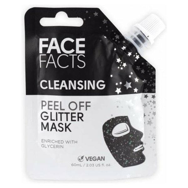 Face Facts Glitter Peel off Mask - Cleansing (Black)