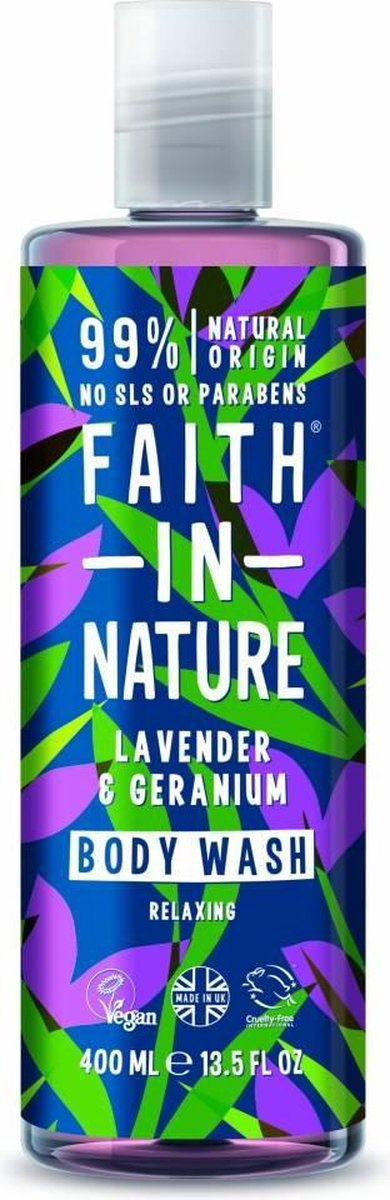 Faith In Nature Body Wash Lavender & Geranium (400ml)