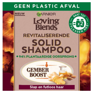Garnier Loving Blends Revitaliserende Solid Shampoo Bar Gember - 1 stuk - Voor Slap en Futloos haar