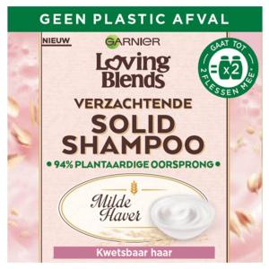 Garnier Loving Blends Solid Shampoo Bar Milde Haver - 1 stuk - Voor Kwetsbaar haar