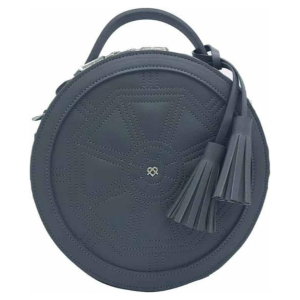 Gunas New York - Rotunda Grey - Ronde Vegan Tas - Crossbody Bag - Grijs