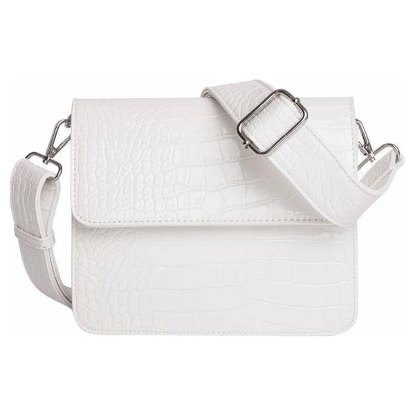 HVISK Cayman Shiny Strap Bag Dames Crossbodytas Wit