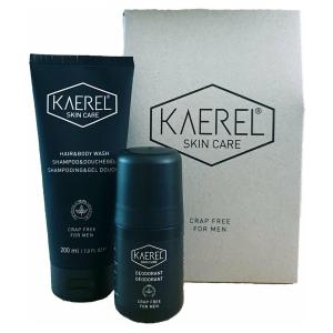 Kaerel gift set (shampoo & douchegel + deodorant)