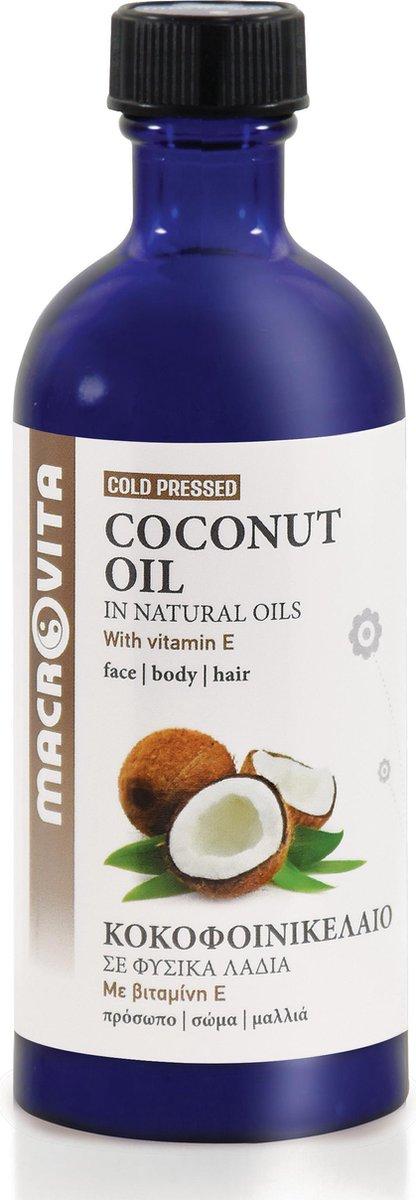 Macrovita Koudgeperste Kokosolie - Huidolie