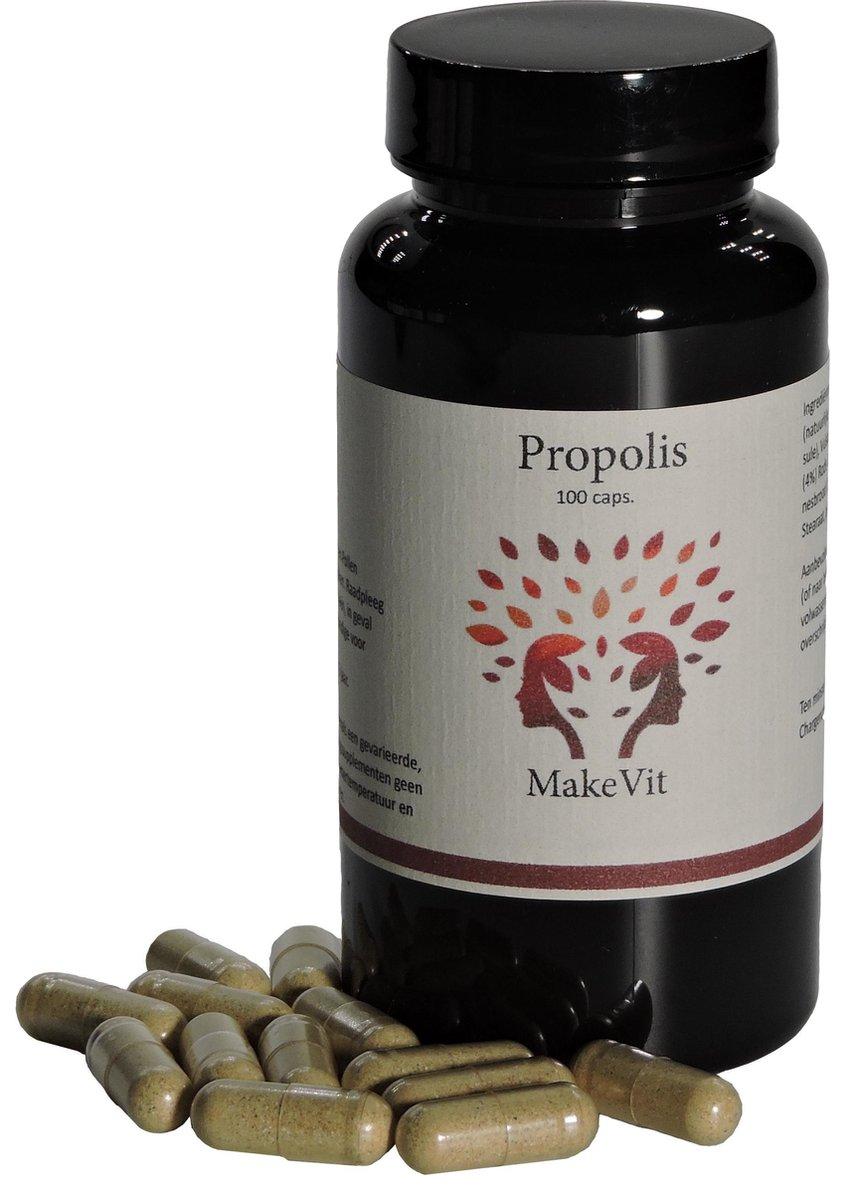 MakeVit Propolis - 100 capsules - bevat Bijenpollen en Echinacea - Weerstand - Afweersysteem