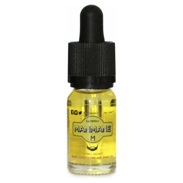 Manmane Citrus Grove - Baardolie conditioning en scheerolie - 100% Vegan