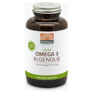 Mattisson / MT1495 Plantaardige Vegan Omega 3 Algenolie DHA 150mg / EPA 75mg 180 vcaps.