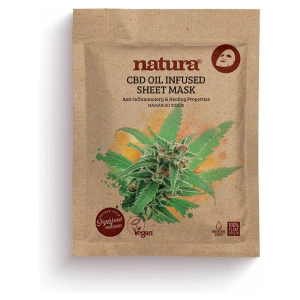 NATURA CBD OIL INFUSED SHEET VEGAN MASK