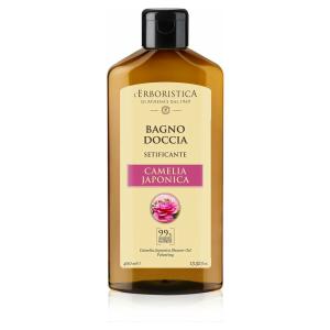 Natuurlijke bad- en douchegel Camelia Japonica (400 ml). Vegan. vrij van parabenen en siliconen