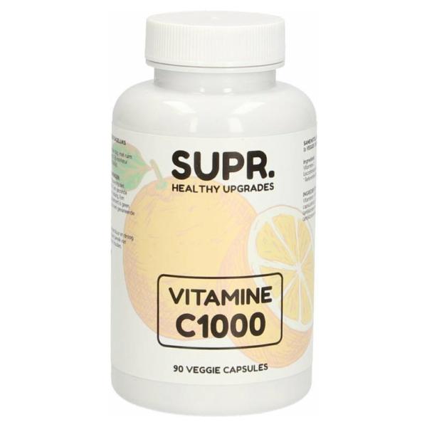 SUPR Vitamine C Capsules | 1000 mg | 90 capsules voor dagelijks gebruik