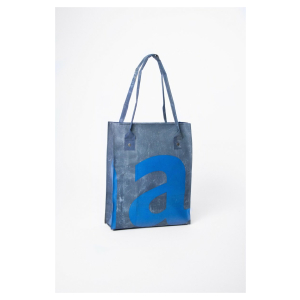 SUSTAINABLE SHOPPER RIPPED BLUE - vegan - zeil -