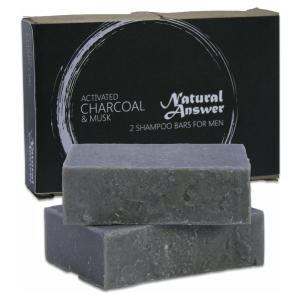Shampoo Bar & Body Bar Voor Mannen In Voordeelverpakking | Shampoo Blok | Activated Charcoal & Musk | Biologisch, Vegan, 100% Natuurlijk & Plasticvrij | Geen Parabenen, SLA, SLSA, SLS & SLES