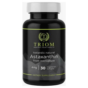 TRIOM Astaxanthine - 4mg 30 Vegan capsules - 100% Natuurlijk - Inclusief gratis pillbox vanaf 2 stuks