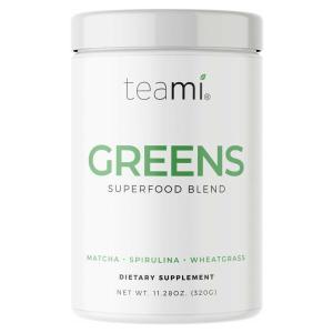 Teami Greens Superfood Powder - Matcha-poeder Tarwegras Spirulina - 320 gram