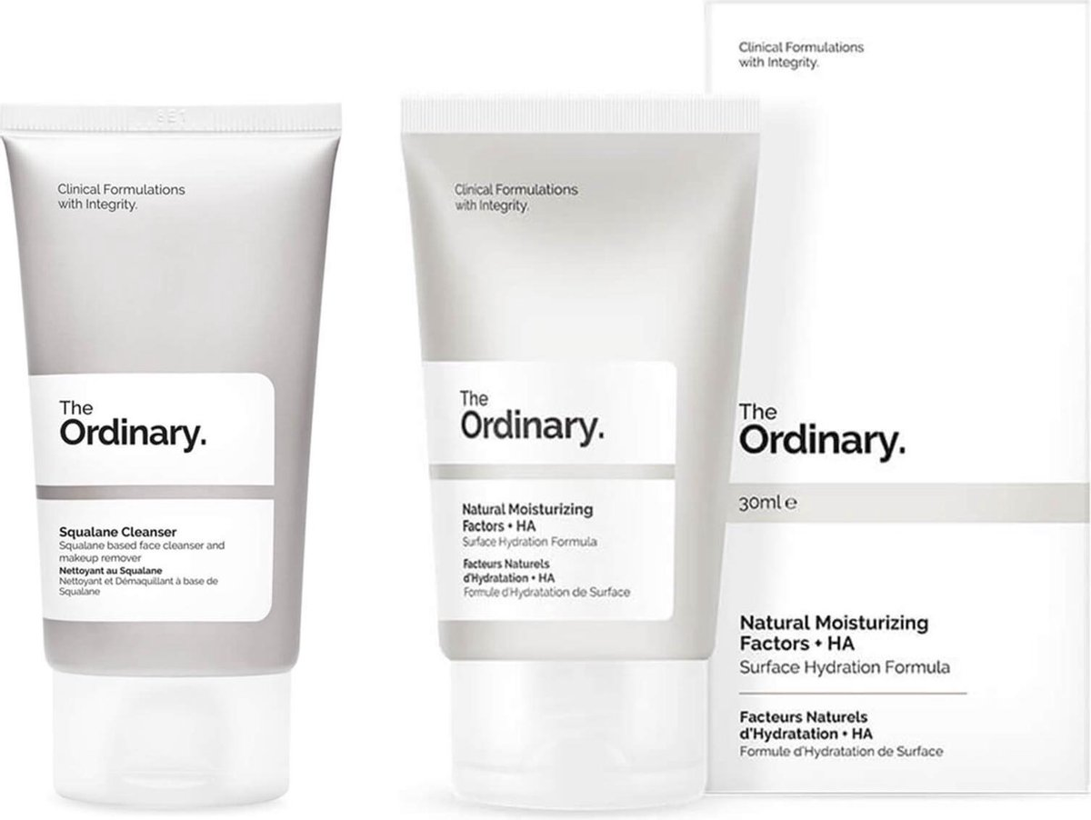 The Ordinary Natural Moisturising Factors and Squalane Cleanser - Set - Duo - Gezichtsverzorging - 80ml