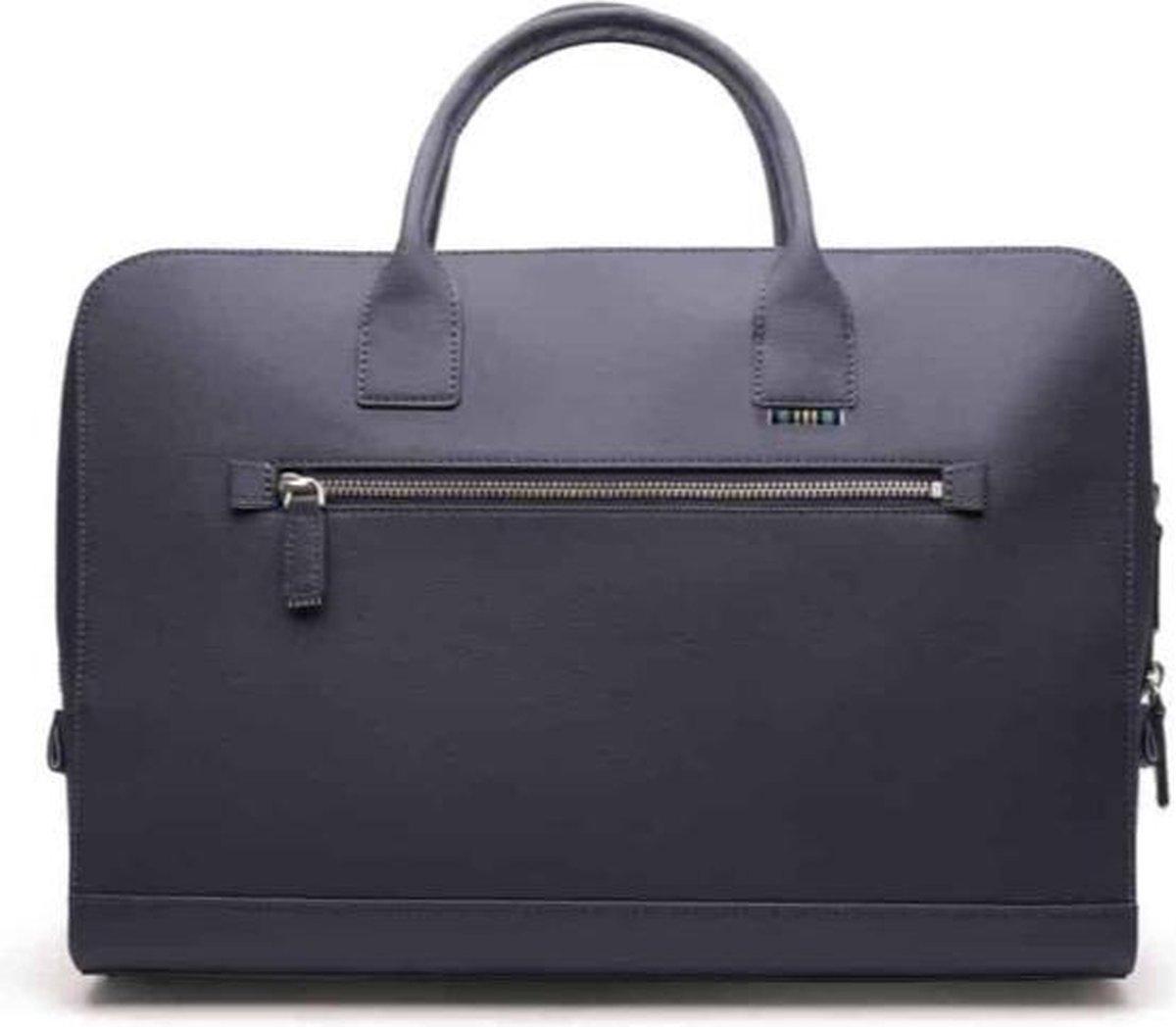 Thisislo - First Edition Briefcase Blue - Vegan - Laptoptas - Aktetas - Blauw