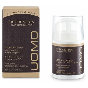 Uomo natuurlijke anti-ageing gezichtscrème voor mannen (50 ml). VEGAN