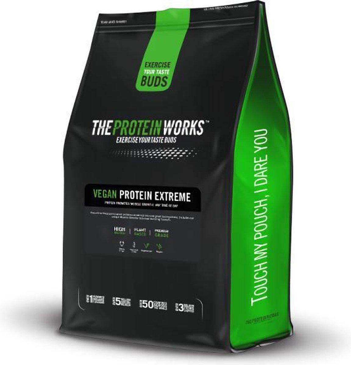 Vegan Protein / Vegan Proteïne - Vegan Proteïne Extreme / Vegan Protein Extreme - The Protein Works | Eiwitpoeder / Eiwitshake | 1kg | Salted Caramel Bandit