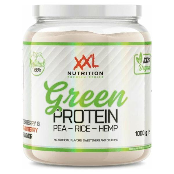 XXL Nutrition Green Protein - Vegan Proteïne Poeder / Vegan Proteïne Shake - Vanille 1000 gram
