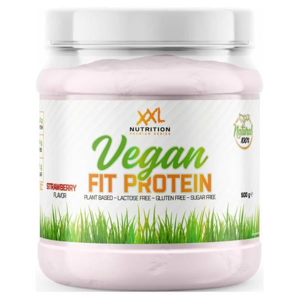 XXL Nutrition Vegan Fit Protein - Vegan Proteïne Poeder / Vegan Proteïne Shake - Aardbei 500 gram