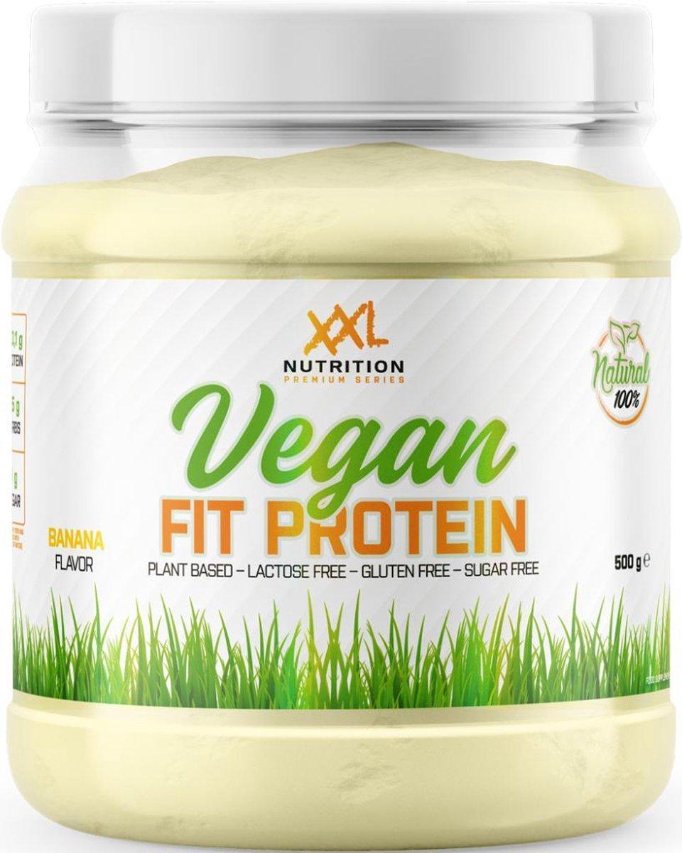 XXL Nutrition Vegan Fit Protein - Vegan Proteïne Poeder / Vegan Proteïne Shake - Banaan 500 gram