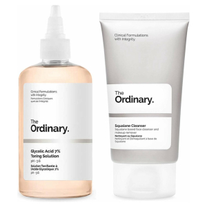 The Ordinary Healthy skin duo set | The Ordinary Glycolic Acid 7% Toning Solution Tonic | Squalane Cleanser | Dynamic Duo